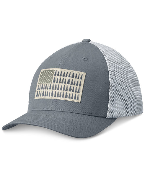COLUMBIA MESH™ BALLCAP GREY ASH /  TREE FLAG  Hats Columbia - Hook 1 Outfitters/Kayak Fishing Gear