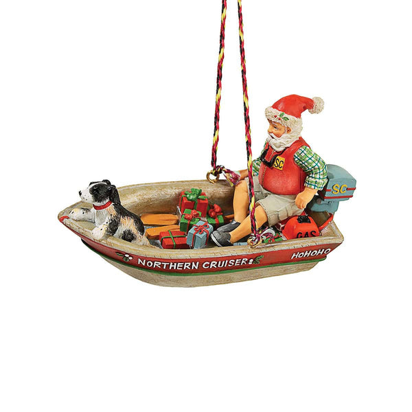Retro Boating Santa Decoration  Home Décor GSI - Hook 1 Outfitters/Kayak Fishing Gear