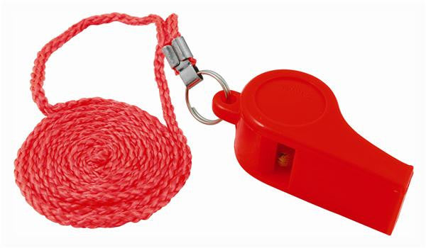 Attwood Orange Whistle - Plastic Ball Type With Lanyard  Marine Attwood - Hook 1 Outfitters/Kayak Fishing Gear