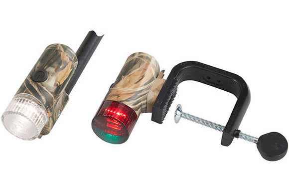 Attwood Portable Combo Lite - Clamp On Led Bow & Stern Camo  Marine Attwood - Hook 1 Outfitters/Kayak Fishing Gear
