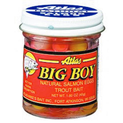 Atlas Big Boy Salmon Egg - 1.6Oz Light-Dry Pack  Lures - Bait Atlas-Mikes Bait - Hook 1 Outfitters/Kayak Fishing Gear
