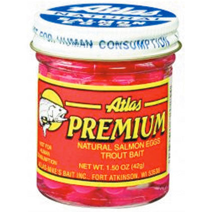 Atlas Premium Salmon Egg - 1.5Oz Orange  Lures - Bait Atlas-Mikes Bait - Hook 1 Outfitters/Kayak Fishing Gear