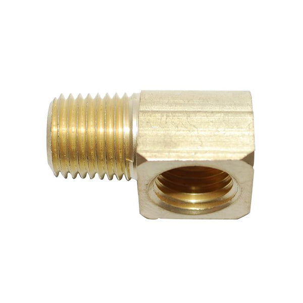 Attwood Fuel Brass Elbow - 90-Deg 1/4 Male X 1/4 Female  Marine Attwood - Hook 1 Outfitters/Kayak Fishing Gear