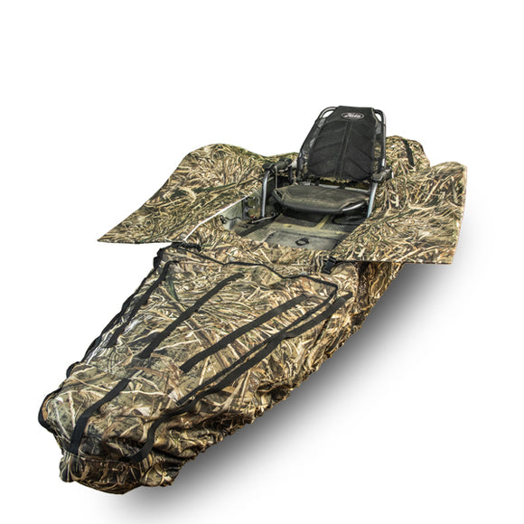 Ambush Camo Kayak Cover & Hunting Blind  Kayak Accessories YakGear - Hook 1 Outfitters/Kayak Fishing Gear