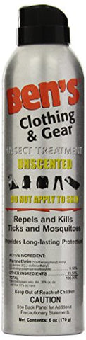 Bens Insect Repellent - Clothing & Gear 6Oz