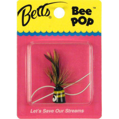 Betts Bee Pop  Lures - Flys Bett's - Hook 1 Outfitters/Kayak Fishing Gear
