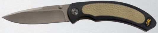 Browning Folding Knife - Cayman Black/Tan Folder  Cutlery/Tools Browning - Hook 1 Outfitters/Kayak Fishing Gear