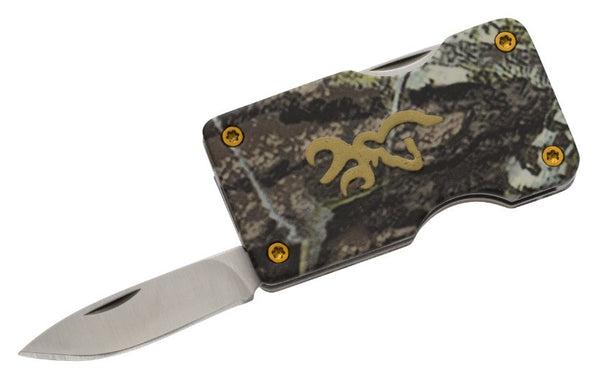 Browning Bm Money Clip - Mobu Camo  Cutlery/Tools Browning - Hook 1 Outfitters/Kayak Fishing Gear