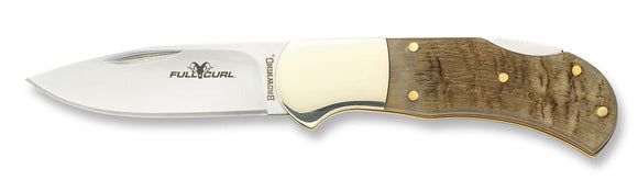 Browning Folding Knife - Full Curl Sheep Folder  Cutlery/Tools Browning - Hook 1 Outfitters/Kayak Fishing Gear