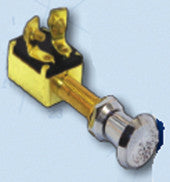 Boater Sports Push/Pull Switch - 2-Position Brass