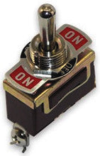 Boater Sports Toggle Switch - On/Off/On Brass