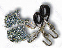Boater Sports Safety Chain - 5/16In 5000# Class 3 2-Pc  Marine Boatersports - Hook 1 Outfitters/Kayak Fishing Gear
