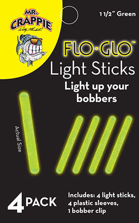 Betts Mr Crappie Light Sticks - 1 1/2 Green 4Pk  Floats Bett's - Hook 1 Outfitters/Kayak Fishing Gear