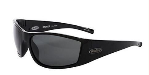 Berkley Polorized Sunglasses - Badger Gloss Blk/Smoke  Eyewear/Accessories Berkley - Hook 1 Outfitters/Kayak Fishing Gear
