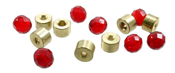 Bullet Weight Brass Tickers - 7 Brass Tickers 7 Glass Beads  Sinkers/Accessories Bullet Weights - Hook 1 Outfitters/Kayak Fishing Gear