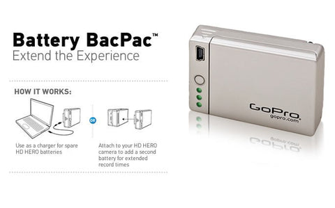 GoPro BacPac - Extend the Experience