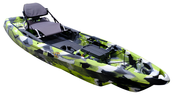 Big Fish 120 Green Camo Kayaks 3 Waters - Hook 1 Outfitters/Kayak Fishing Gear