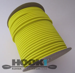 "Bungee / Shock Cord 1/4"" Yellow  Bungee/Deck Line/Webbing Other - Hook 1 Outfitters/Kayak Fishing Gear"