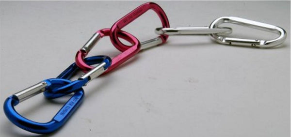Grizzly Grip Alum Carabiner - 2 Pk Std Shape 2.75 X 1.5In