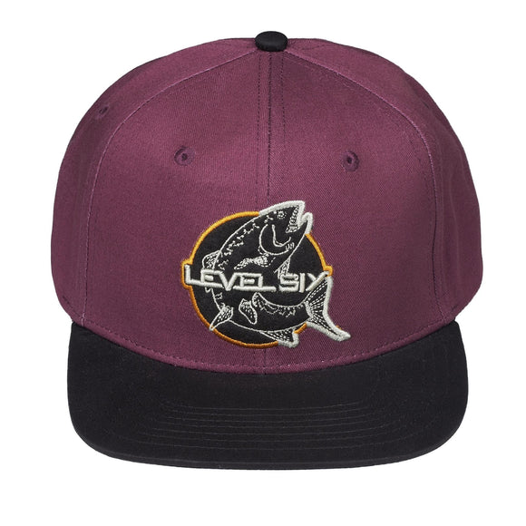 Level Six Fish Cotton Adjustable Cap Purple Hats Level Six - Hook 1 Outfitters/Kayak Fishing Gear