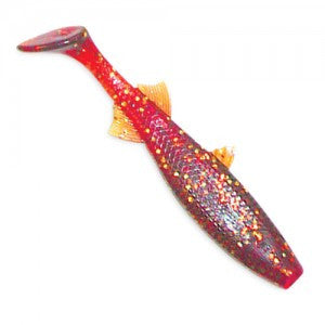 Culprit Riptide Mullet - 3In 12Pk Rootbeer Gold Flk  Lures - Soft Plastics Culprit / Classic - Hook 1 Outfitters/Kayak Fishing Gear
