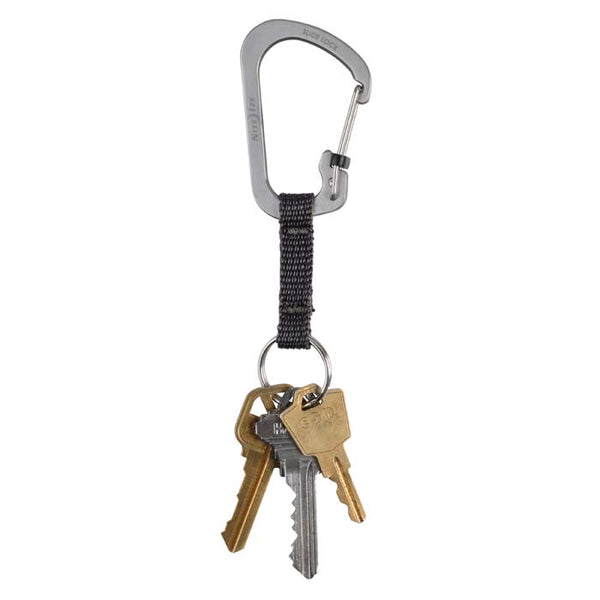 SlideLock Key Ring Stainless Steel - Stainless  Accessories Nite Ize - Hook 1 Outfitters/Kayak Fishing Gear