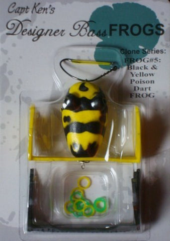 Captain Ken's Frog - Captain Ken's Frog - Black and Yellow Poison Dart Frog