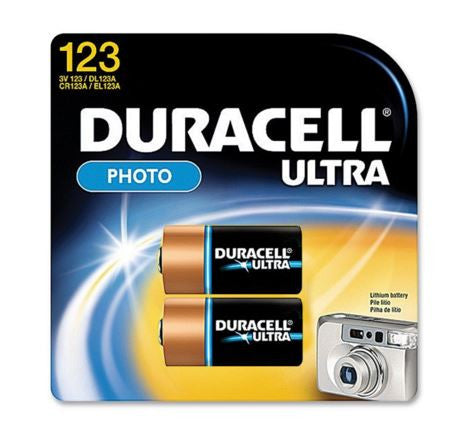 Duracell Lithium Battery - Cr123 2/Pk  Lights/Batteries Duracell - Hook 1 Outfitters/Kayak Fishing Gear