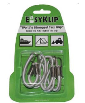 Easyklip Bannabungee - 6In Black 4/Pack  Camping Easyklip - Hook 1 Outfitters/Kayak Fishing Gear