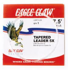 Eagle Claw Tapered Leader  Line - Fly/Accessories Eagle Claw - Hook 1 Outfitters/Kayak Fishing Gear