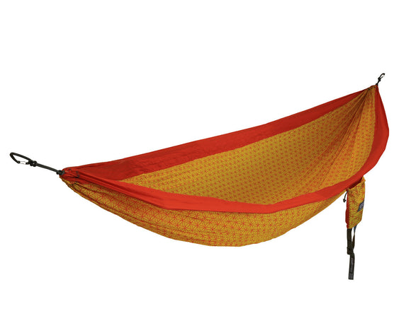 DOUBLENEST FLOWER OF LIFE ORANGE/YELLOW HAMMOCK ENO - Hook 1 Outfitters/Kayak Fishing Gear