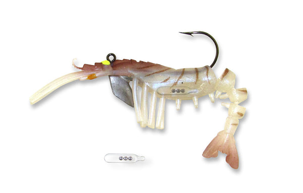 Egret Vudu Rattler Shrimp  Lures - Soft Plastics Egret - Hook 1 Outfitters/Kayak Fishing Gear