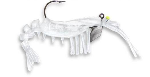 Egret Vudu Glow Shrimp  Lures - Soft Plastics Egret - Hook 1 Outfitters/Kayak Fishing Gear