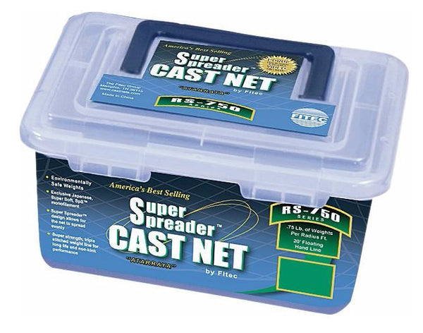 Fi-Tec Super Spreader Cast Net  Nets/Traps/Baskets Fi-Tec - Hook 1 Outfitters/Kayak Fishing Gear