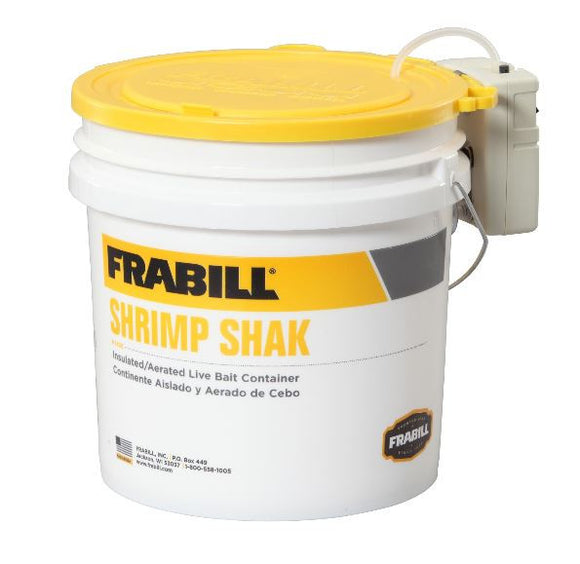Frabill Aqua Life Shrimp Shak - F14331 W/4-1/4 Gal Bait Bucket  Bait Containers/Aeration Frabill - Hook 1 Outfitters/Kayak Fishing Gear