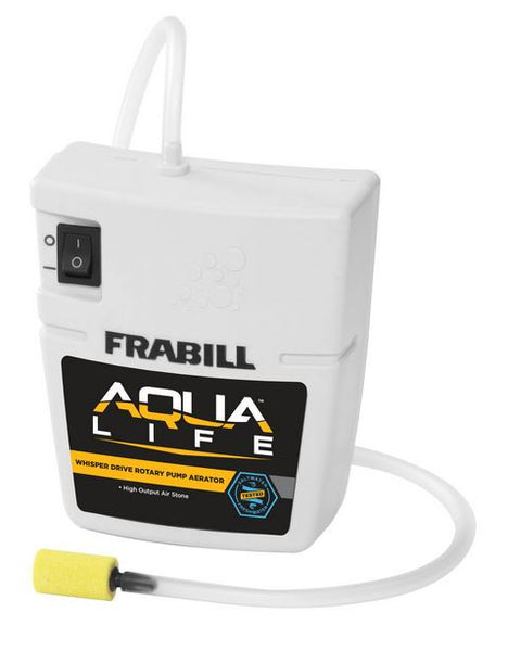 Frabill Aqua Life Quiet Aerato - Runs On 2 D Batteries 10 Gal  Bait Containers/Aeration Frabill - Hook 1 Outfitters/Kayak Fishing Gear
