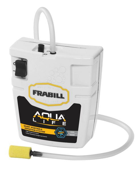 Frabill Aqua Life Whisper Aera - Runs On 2D Batteries 15 Gal  Bait Containers/Aeration Frabill - Hook 1 Outfitters/Kayak Fishing Gear