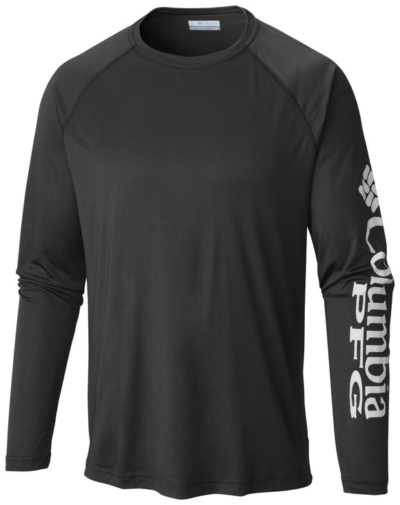 MEN'S PFG TERMINAL TACKLE™ LONG SLEEVE TEE Black / M Tops Columbia - Hook 1 Outfitters/Kayak Fishing Gear