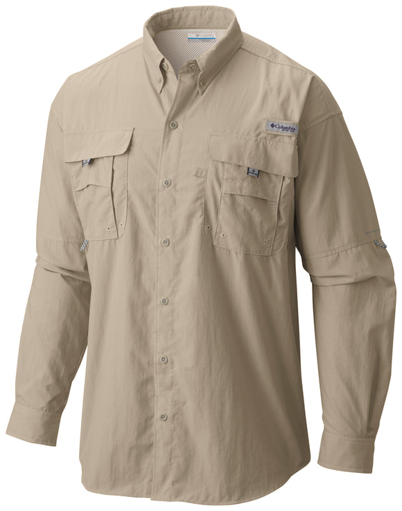 Men's Bahama™ II Long Sleeve Shirt Fossil / S Tops Columbia - Hook 1 Outfitters/Kayak Fishing Gear