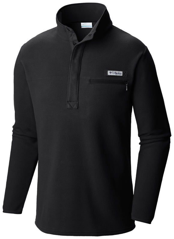 MEN'S HARBORSIDE FLEECE PULLOVER Black / Medium Jackets Columbia - Hook 1 Outfitters/Kayak Fishing Gear