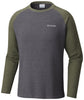 Ketring™ Raglan Long Sleeve Shirt Shark Heather - CLOSEOUT / Medium Tops Columbia - Hook 1 Outfitters/Kayak Fishing Gear