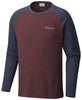 Ketring™ Raglan Long Sleeve Shirt Elderberry Heather - CLOSEOUT / Medium Tops Columbia - Hook 1 Outfitters/Kayak Fishing Gear