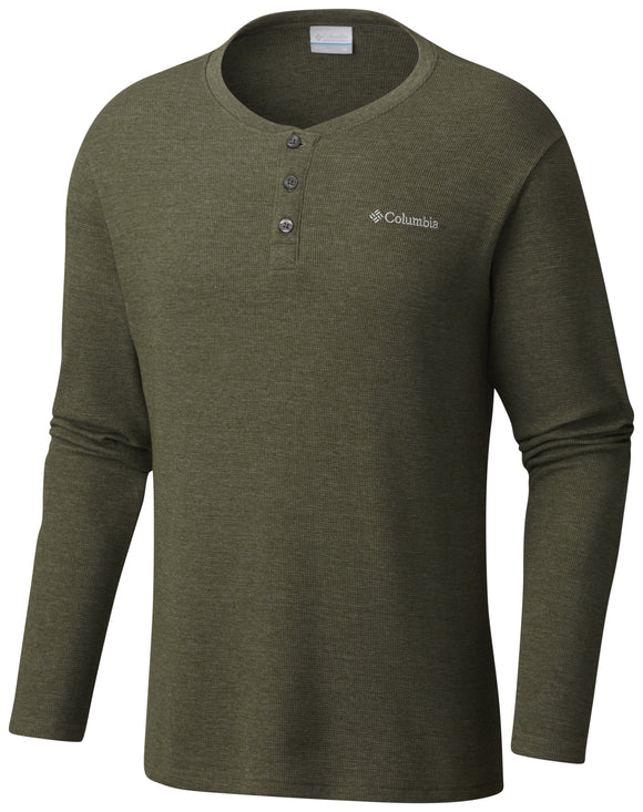 Ketring™ Henley - CLOSEOUT Surplus Green Heather - CLOSEOUT / Medium Tops Columbia - Hook 1 Outfitters/Kayak Fishing Gear