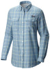 BONEHEAD WOMEN'S FLANNEL LONG SLEEVE SHIRT Dark Mirage Plaid / Small Tops Columbia - Hook 1 Outfitters/Kayak Fishing Gear