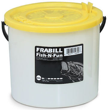 Frabill Fish-N-Fun Bait Bucket - 4-1/2Qt W/Removable Lid  Bait Containers/Aeration Frabill - Hook 1 Outfitters/Kayak Fishing Gear