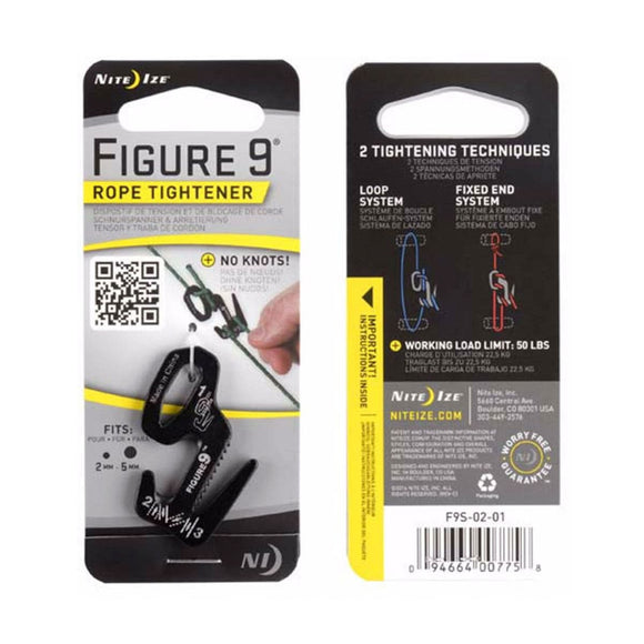 Figure 9® Rope Tightener  Accessories Nite Ize - Hook 1 Outfitters/Kayak Fishing Gear