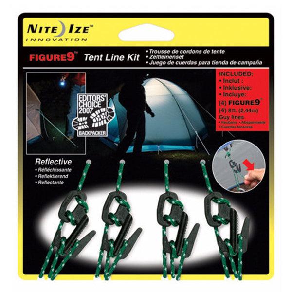 Figure 9® Tent Line Kit  Accessories Nite Ize - Hook 1 Outfitters/Kayak Fishing Gear