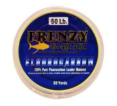 Frenzy Fluorocarbon Leader  Line - Leader Frenzy Big Game - Hook 1 Outfitters/Kayak Fishing Gear