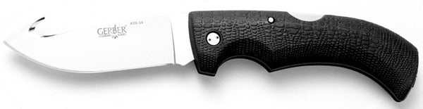 Gerber Knife Fold Gator Knife - Fine Edge W/Gut Hook & Sheath  Cutlery/Tools Gerber - Hook 1 Outfitters/Kayak Fishing Gear