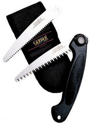 Gerber Saw Exchange-A-Blade - Wood & Fine Blade W/Sheath  Cutlery/Tools Gerber - Hook 1 Outfitters/Kayak Fishing Gear